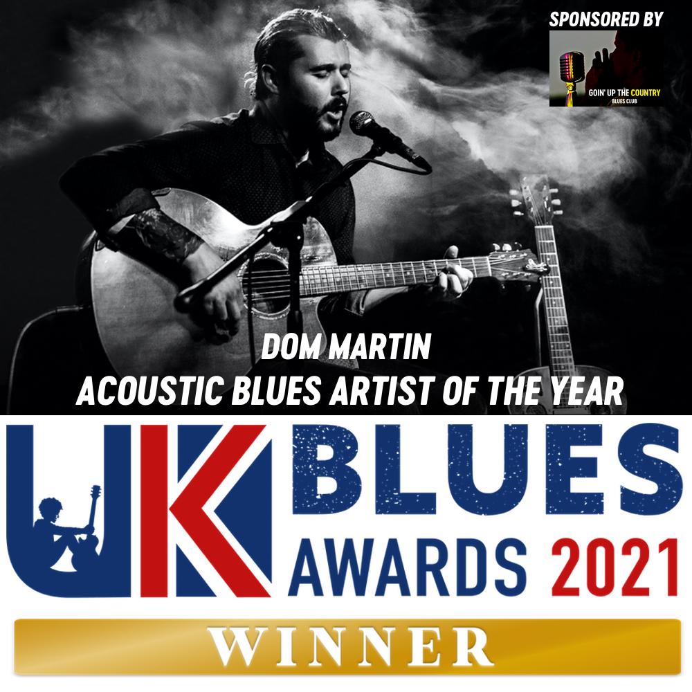 Dom Martin UKBlues awards
